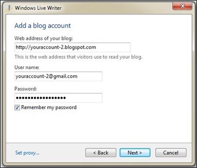 MENU WRITTER - account blogger - 2